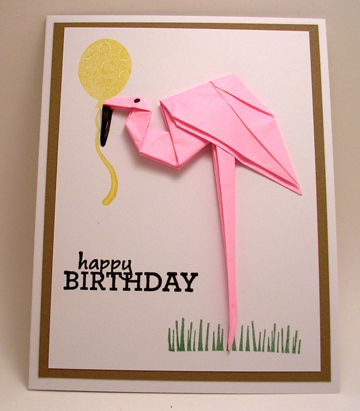 Birthday card origami images