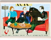 Art, Humor, Words, Vintage, Poster, Boar, Pig Pet, Quirky, Sorry For What I Said About Your Pet Boar- Fine Art Print