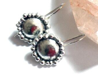 Small Silver Earrings, Small Dangle Earrings, Unique Earrings, Hammered Silver Earrings, Small Drop Earrings, Dainty Earrings,Everyday Drops