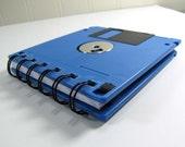Floppy Disk Notebook Sea Blue Recycled Geek Gear Blank