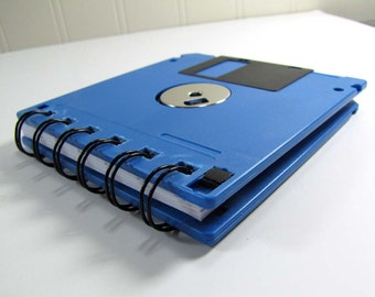 Floppy Disk Notebook Sea Blue Recycled Geek Gear Blank