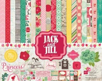 Echo Park Jack & Jill Girl 12x12 Collection Kit