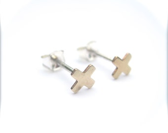 Tiny X Studs, Tiny X Earrings, Minimal Stud Earrings