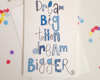 Dream Big Card - Free Postage
