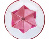 Kippah yarmulke for jewish baby girl. Name Giving - Simchat Bat - Brit Banot. David Star.