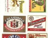 30 Different Vintage Old BEER LABELS Glen Ale, SCHOENLING ,Tube City Etc....