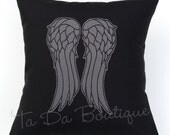 SALE Daryl Wings Embroidered Pillow Case Cover