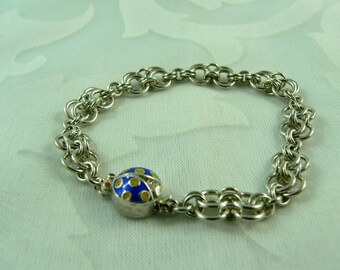 Child's Double Infinity Chainmaille Bracelet