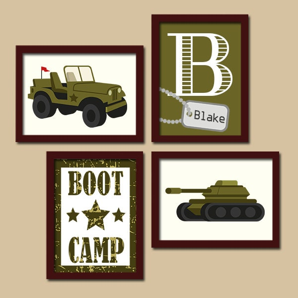 ARMY Wall Art MILITARY Artwork Big Boy Bedroom Pictures