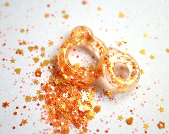 Twiggy Twiggy New Orange Glitter Pull Ring  PR03-09