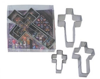 Cross Cookie Cutters 3 Piece set