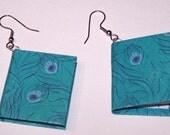 miniature handmade book earrings
