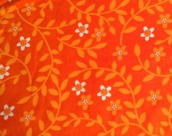 ORANGE FLOWERS flannel lounge pants/pajama pants children's sizes 0-3 to size 5T Last pair