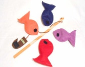 Felt Fishing Game Fishing Toy Fish Game Ecofriendly, Montessori Toy - READY MADE