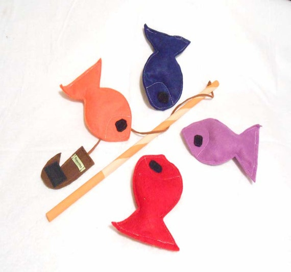 Felt fishing game fishing toy fish game ecofriendly for Illinois game and fish