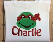 Turtle Design Your Choice Personalized Girl Or Boy Shirt Dress Tank Onesie Bloomers Gown Bib
