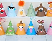 The Vintage Muppet Collection - Custom Party Hats SET of 12 from Mary Had a Little Party