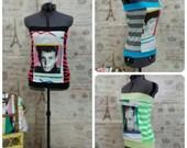 NKOTB New Kids On The Block Tube Top Knit Shirt Top Sexy 90s Retro Custom order Sz 0-14 and Plus size