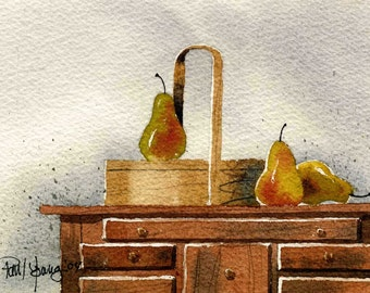 Shaker Artistry One-Print from an original watercolor painting