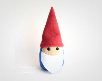 Garden Gnome Plushie, Stuffed Plush, READY TO SHIP