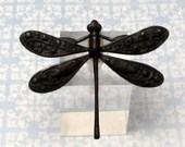 Dragonfly Pendant, Matte Black, Trinity Brass MB49
