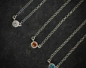 Citrine  and Sterling Tinsel Necklace - Ready to Ship