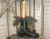Vintage Antique Young Childs Skate Electric Candle