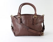 Large Leather Purse in Chocolate Brown