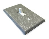 Gray Metallic Silver Dalmatian Dots Light Switch Cover Switchplate Switch Plate Polka Dots Shimmer 1648A