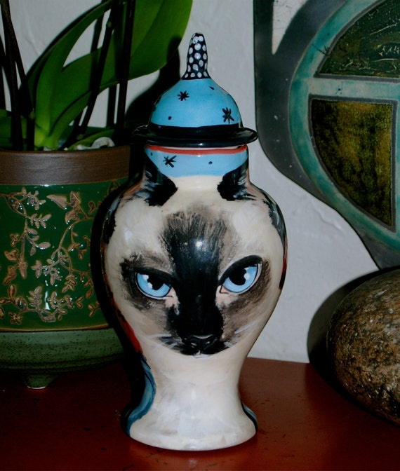 Custom medium PET URN for dogs and cats SMALL Siamese made to order personallized