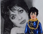 Liza Minnelli Doll Miniature Fan Art Famous Singer Broadway
