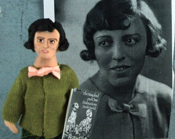 Writer Doll-  Dodie Smith-  Author of The Hundred and One Dalmatians- Uneek Doll Designs