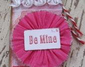 Valentine Tag, Valentines Day, Valentine, Primitive Valentine, Red, Pink, Be Mine, Adore, Heart, Shabby Chic, Love, Gift Tag, ofg team
