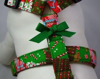 Dog Harness - Calico Christmas