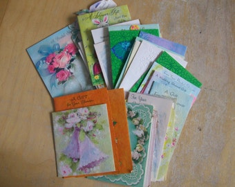 Wedding and Wedding Shower gift cards..34 vintage 1971 used, saved. and ready for reuse