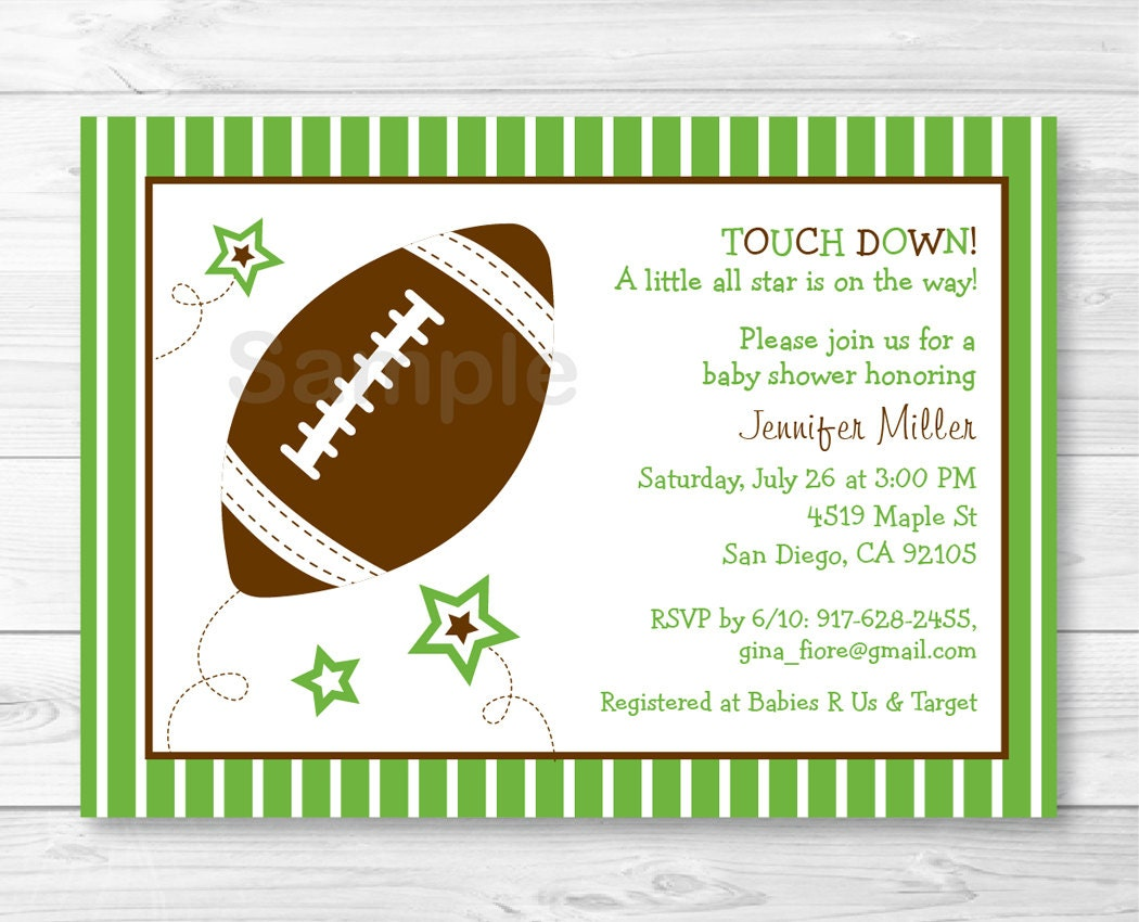 cute football baby shower invitation football baby shower