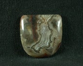 Laguna Lace Agate Freeform Cabochon from Mexico 24x24x5mm