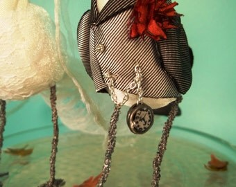Wedding Cake Topper Ferdi Birds -- custom miniature love birds
