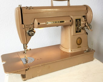 Vintage Singer Sewing Machine 301-A  Short Tail Slant Needle Quilting Machine - c. 1950s