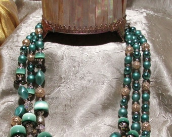 Vintage Japanese Beaded Necklace Set