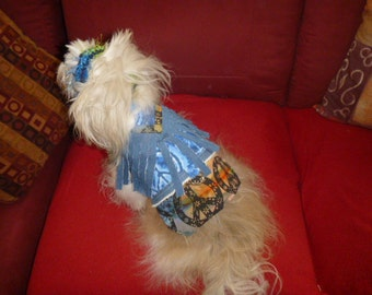 PEACE LOVE Hippie Dog Harness Vest - Made to order - 2 to 20 lb dog sizes