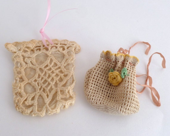 Crochet pouches - Set of 2 little coin purses - needlecraft items
