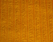 """vintage 70s novelty cotton corduroy fabric in gold, 44"""" x 31"""""""