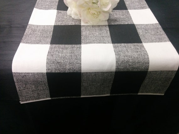 Buffalo Check Runner Choose Colors And Sizes Black Red Or