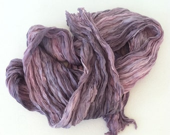 Pink Silk Scarf / Hand Dyed Silk Scarf / Fiber Art / OOAK / Textured Silks Collection