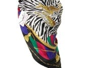 Vintage Diane Furstenberg Silk Scarf Animals African Safari NWT