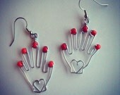 Finger Nail Polish Hand Earrings