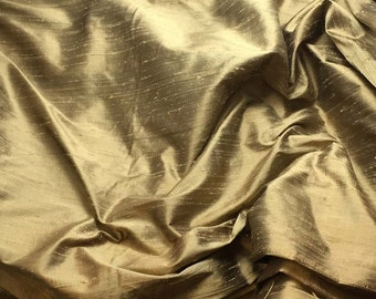 WALNUT BROWN Silk DUPIONI Fabric - fat 1/4