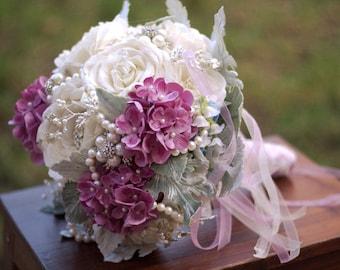 Bridal  bouquet with couture flowers MONET wedding bouquet alternative bouquet destination wedding