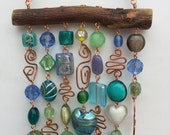 Wind Chime and Suncatcher with Glass Beads and Copper